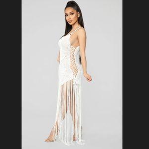 Fashion Nova Swim - FASHION NOVA - MIA CROCHET DRESS - WHITE - NWT